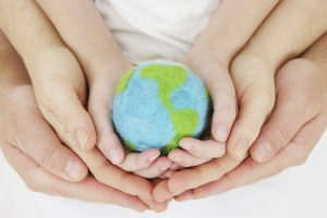 A World surrounded by hands