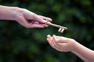 Passing a key to a child