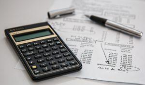 Calculator, paper, and pen
