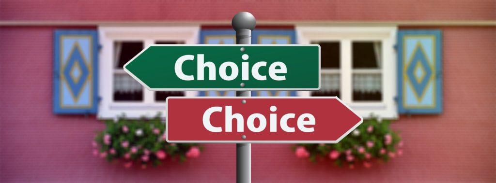 """""""Choice"""" street sign"""