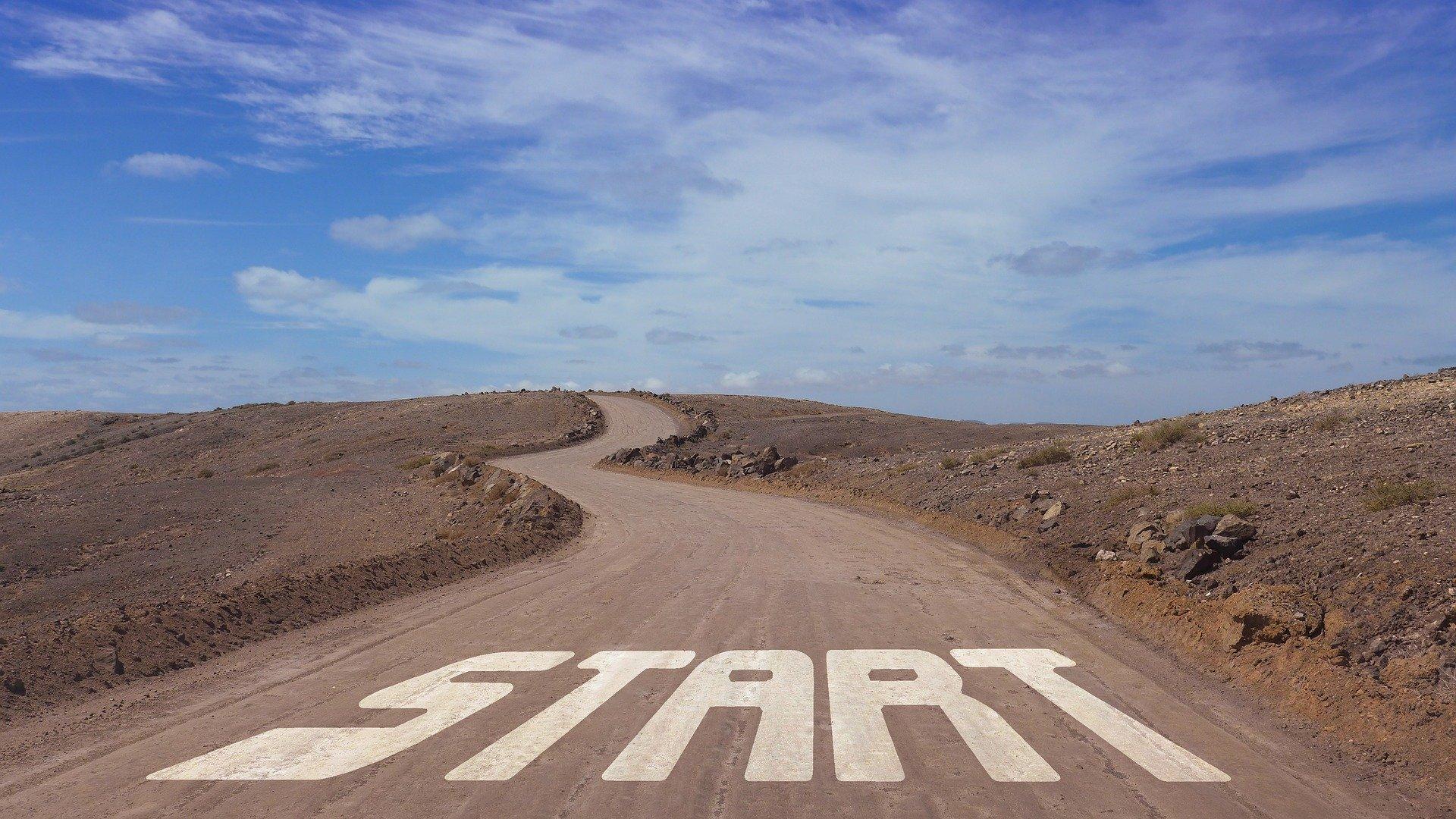 Beginning start line road