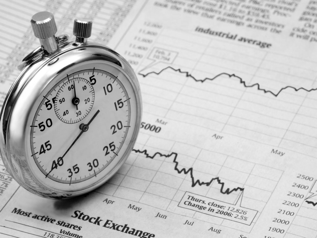 stopwatch stock market time