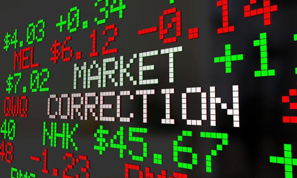 Market correction stock ticker