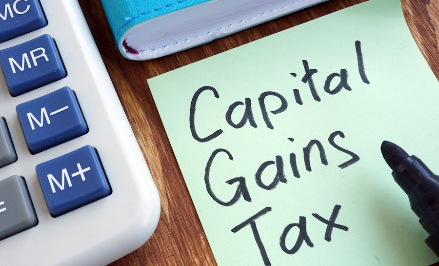 Capital Gains Tax Sticky Note