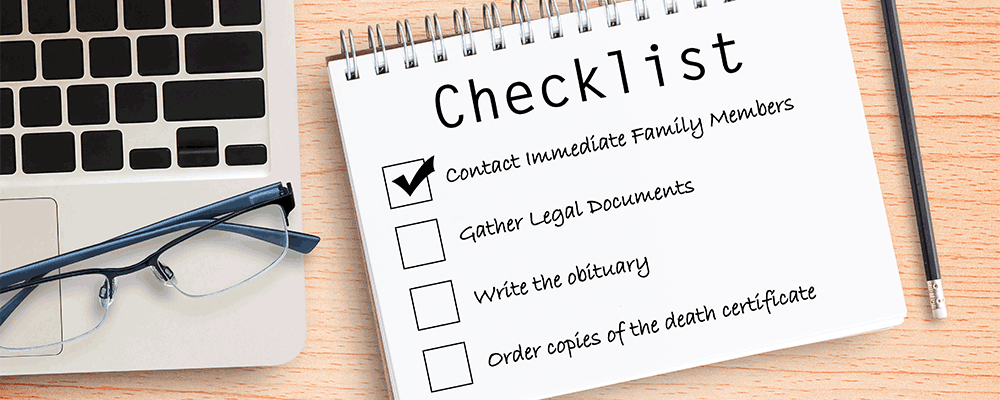 Estate Planning Death Checklist