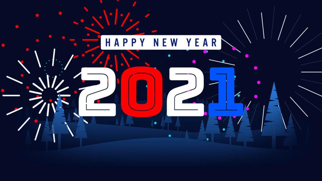 2021 fireworks happy new year