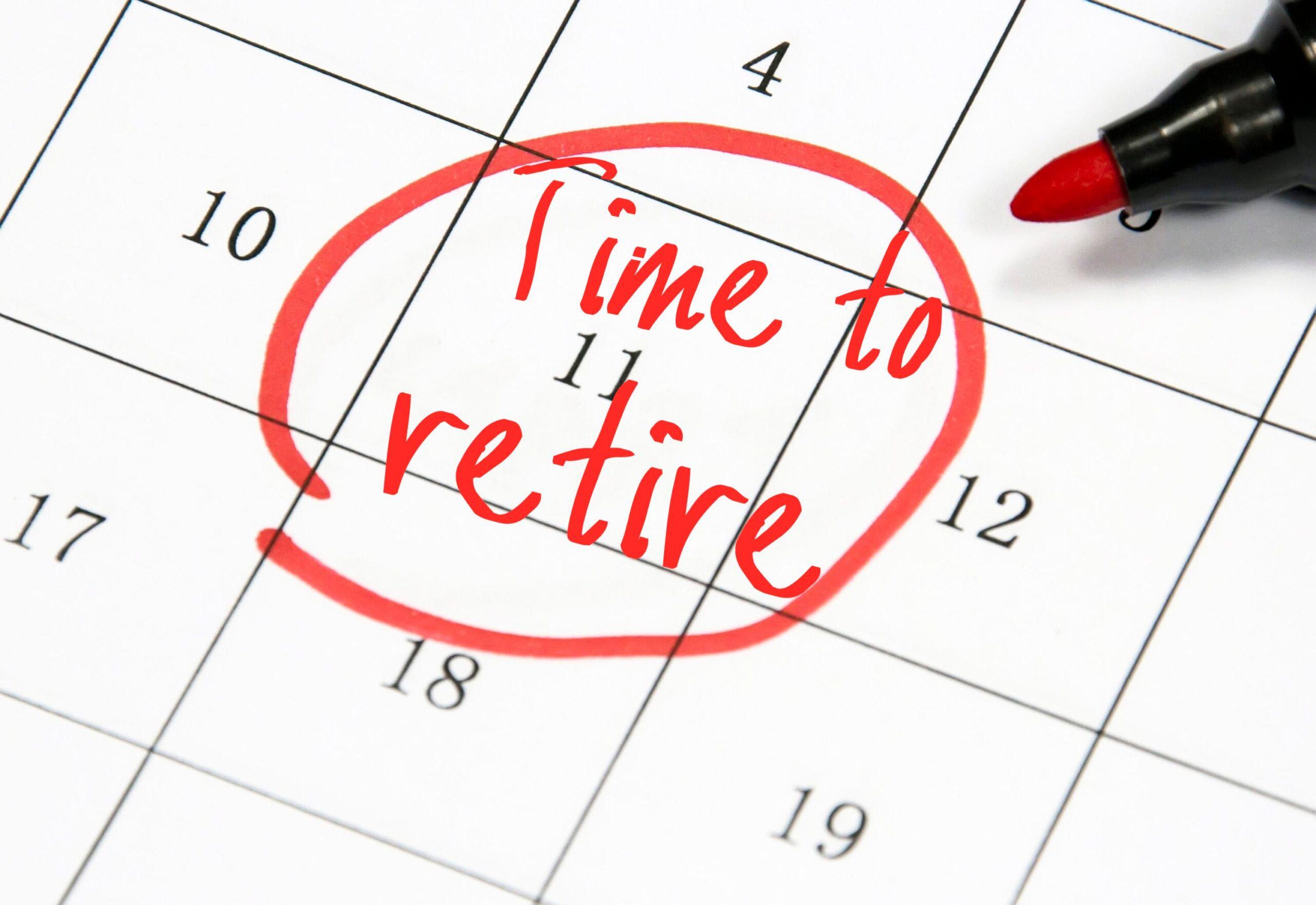 Time to retire calendar