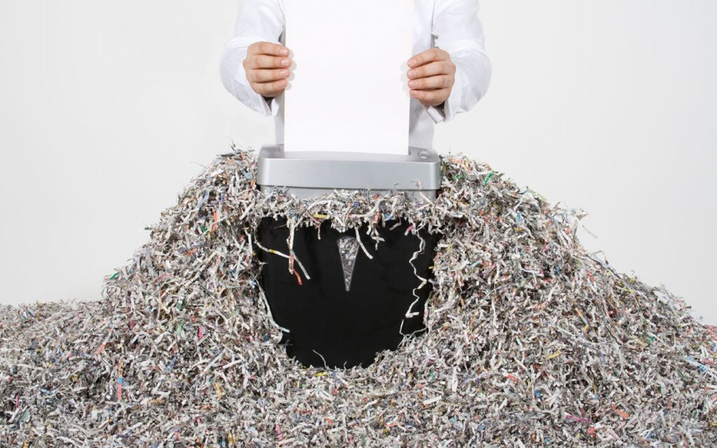 shredded paper shred party