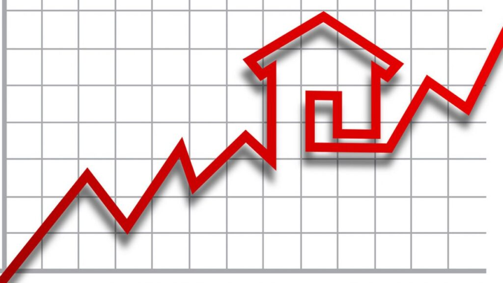 graph of housing market rising