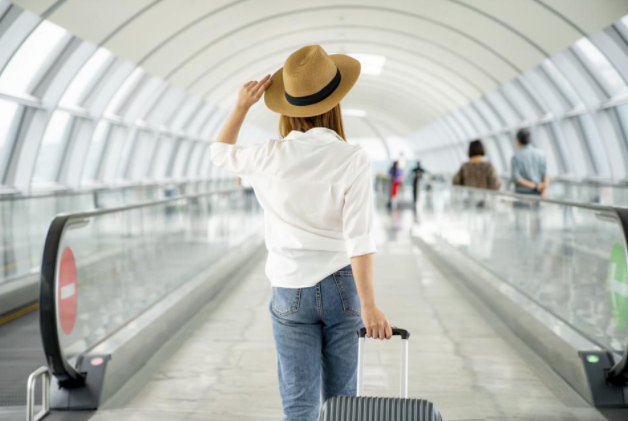 summer travel in airport