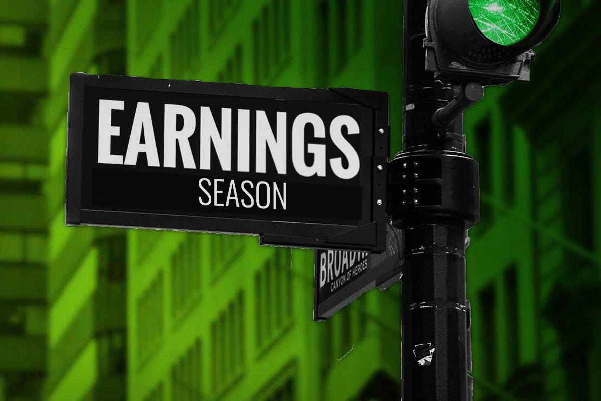earnings season sign