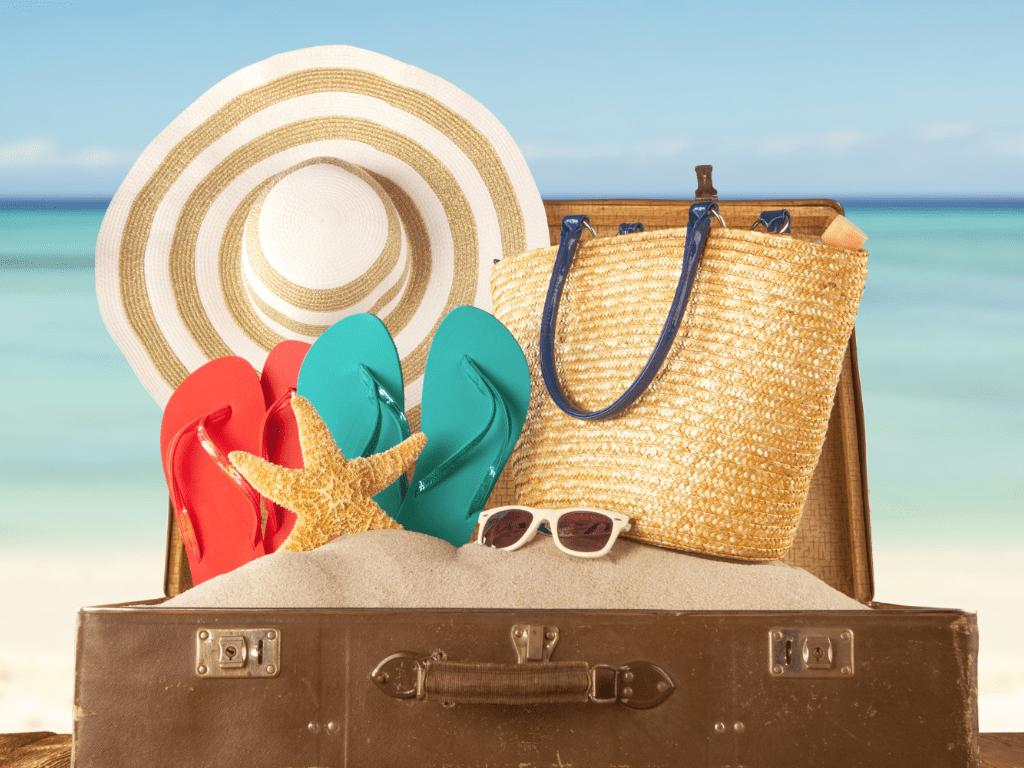 Summer Travel Packed Bag