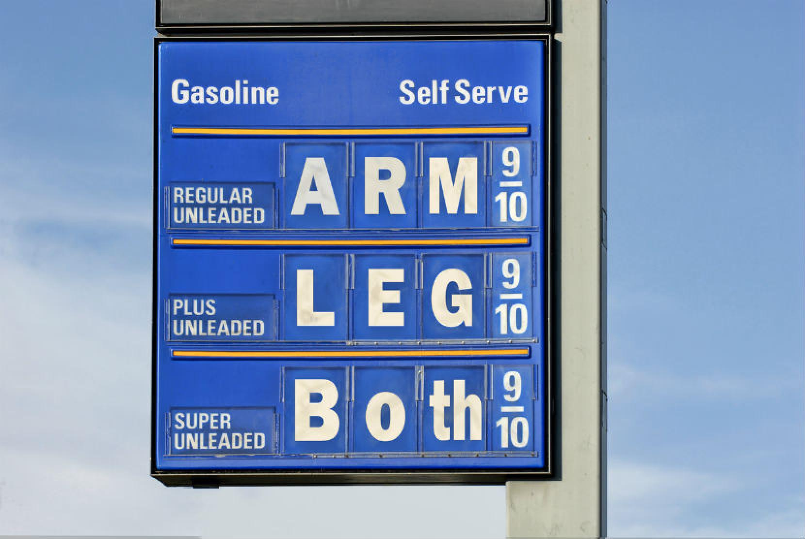 oil prices charge arm and a leg