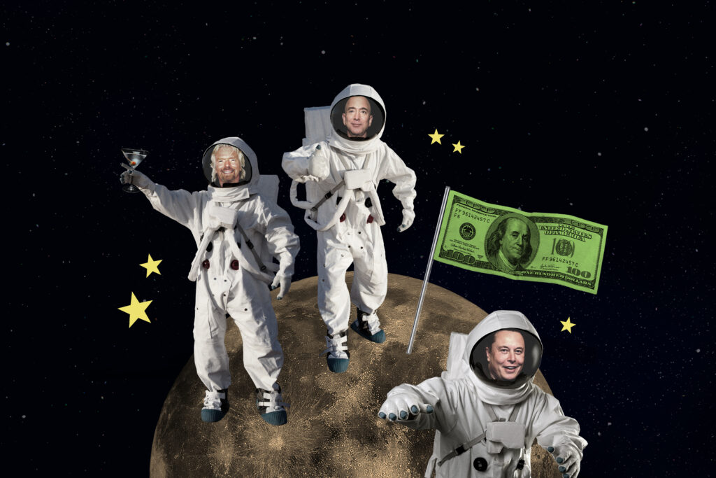 Billionaires and Space Travel goes to the moon