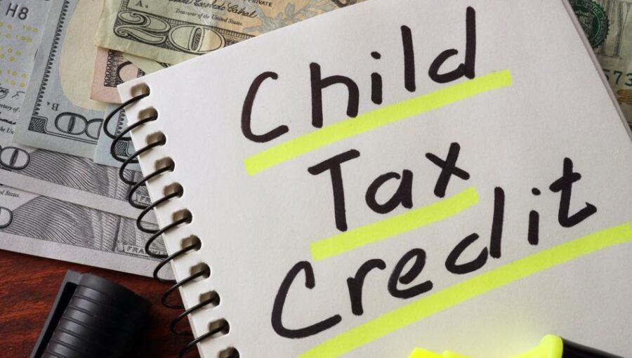 Child Tax Credit Post it note