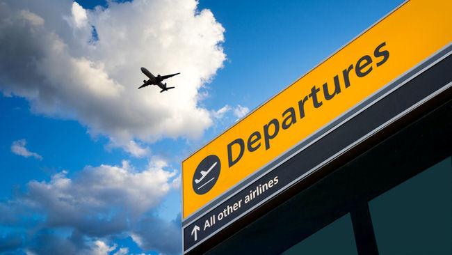Air travel departures